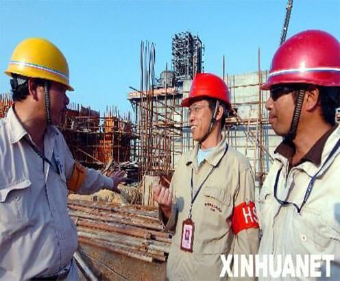 我公司项目经理现场施工